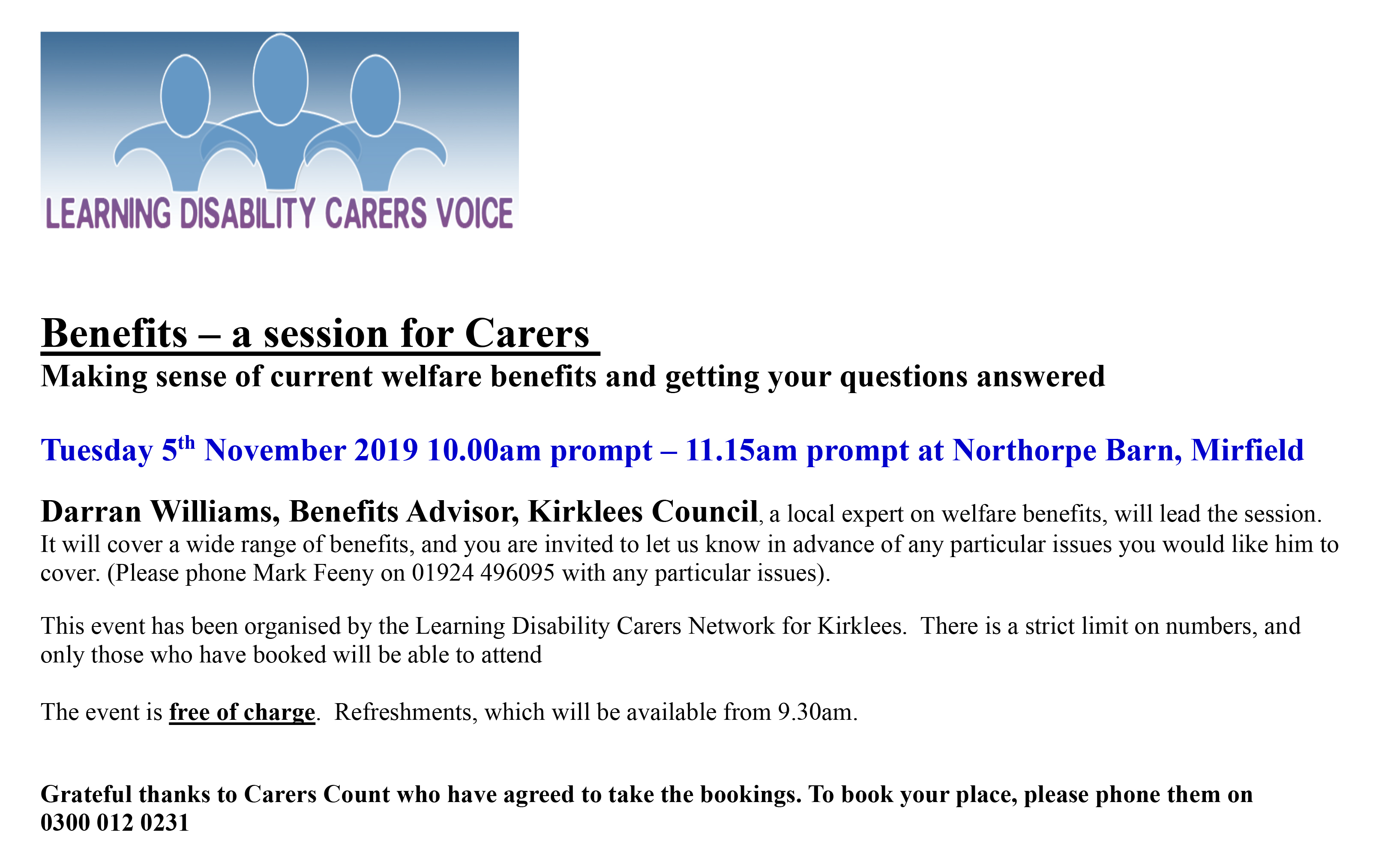 carers event